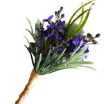 Lavender Buttonhole with Grasses, Buttonhole for Groom or Groomsman Father