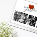Custom Photo Collage Art Gift for Mothers Day - Digital