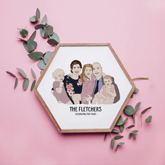 Custom Family Illustrated Portrait