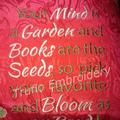 """Geisha Flowers"" Reading/Pocket Cushion Cover"