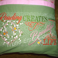"""Apricot Garden"" Reading/Pocket Cushion Cover"