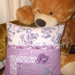 """Purple Rose"" Reading/Pocket Cushion Cover"