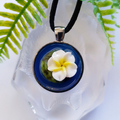Flower on Lily pad - 3D Art Pendant
