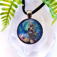 Blue Moon Mermaid - 3D Art Pendant