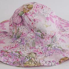 Floppy Straight Brim Sun Hat. 3 different fabrics. Size 0-3 months