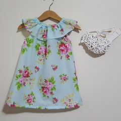 Ava Floral  Ruffle Neck Girls Dress 