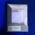 Lavender Handmade Paper Letter Writing Set in Grey Folio