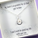 Mother of the Groom Necklace Gift, Mother Of The Groom Necklace