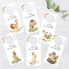 Wardrobe dividers. Woodland Animals. Nursery Closet organisers.