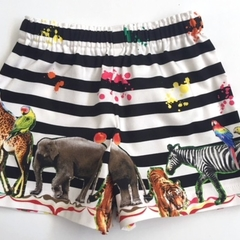 "Size 3 - ""Zoo Animals""Shorts"
