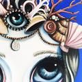 "Original Mermaid Painting ""She Sells Shells"" by Jaz Higgins  on Canvas, Signed"