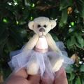 Lucy - a miniature collectible bride bear in a tutu dress