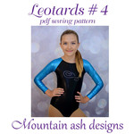 Leotards #4 Sewing Pattern Raglan Sleeve Leotard in Girls Sizes 2-14