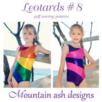 Rainbow Leotards #8 Sewing Pattern Gymnastics Dance Leotard in Girls Sizes 2-18