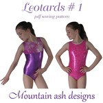 Leotards #1 Sewing Pattern for Gymnastics & Dance in Girls Sizes 2-14