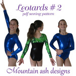 Leotards #2 Sewing Pattern Gymnastics and Dance Leotards in Girls Sizes 2-14