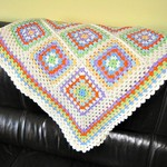 GRANNY SQUARE Blanket/Throw, 110 x 110 cm