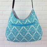 Lemontree Blue Women's Shoulder Bag, Hobo Purse, Fabric Handbag