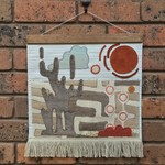 Modernist fabric wallhanging- Desert Landscape