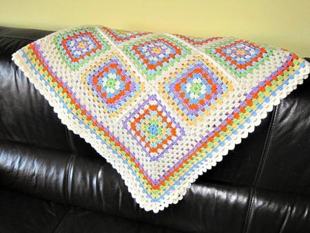 GRANNY SQUARE Blanket/Throw, 110 x 110 cm