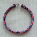Ribbon and Polka Dot Pattern Rope Necklace