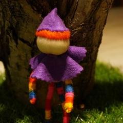 Clown yarn doll