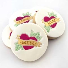 Mum Heart Tattoo Cookie