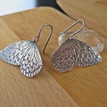 WINGS, STERLING SILVER ROLLER PRINTED  EARRINGS