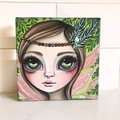 "Original Fairy Painting ""Forest Flutter Fly"" by Jaz Higgins Canvas Signed"