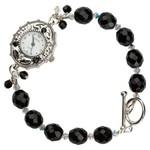 Custom made Ebony Beaded Bracelet Watch