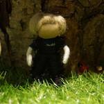 Farmer yarn doll