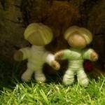 Yarn doll family