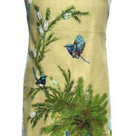 Metro Retro Vintage Australian Bird Blue Wrens Apron Birthday, Mothers day gift