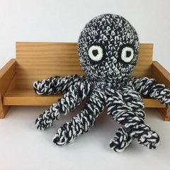 Octopus Softie | Wool | Monochrome | Gift Idea | Hand Crocheted | Ready to Post