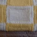 Crochet Baby blanket in Lemon & Cream: Cot, Pram, Travel, capsule, Car, Unisex