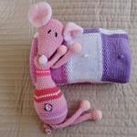 Baby blanket in Pink,  White & Purple: Cot, Pram, Travel, Baby capsule, Car
