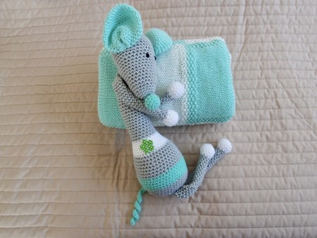 Baby blanket in Mint & Cream: Cot, Pram, Travel, Baby capsule, Car, Unisex
