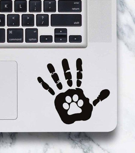 LAPTOP DECAL - Paw in Hand
