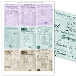 1920s Vintage French Receipts ATC Printables