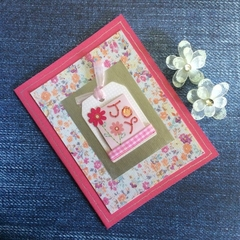 'Joy' Inspirational Pink / Cerise Card