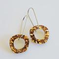 Copper Acrylic Glitter Pebble Earrings