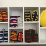 Baby Footy Bootees- League, AFL, Union, Soccer
