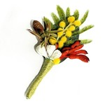 Native Buttonhole for Groom or Groomsman - Australian Native Artificial Flowers