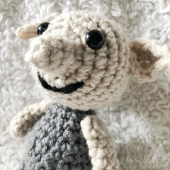 Mini Dobby the House Elf in Pillowcase - Harry Potter Inspired, Gift, Amigurumi