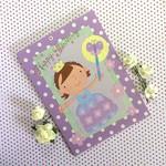 Cute Little 'Princess' Mauve and White Polka Dot Birthday Card