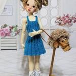 Blue Belle - 35cm Doll Clothes