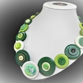 Green button necklace - Green Planet