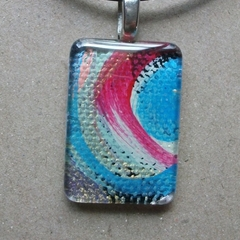 Lucy - painted pendant