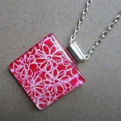 Daisy - painted pendant