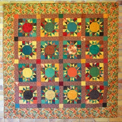 Autumn Sunflowers Patchwork Quilt
